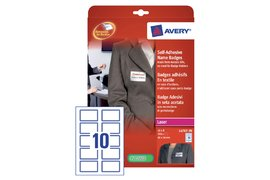 BADGE AVERY L4787-20 80X50MM 200ST BLAUW KADER